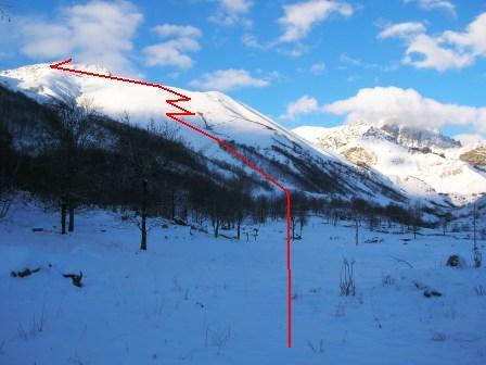 Pelata (Costa) quota 2476 m da Meire Bigoire 2006-12-22