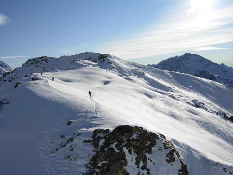Ultimo tratto di cresta verso la cima Facciabella