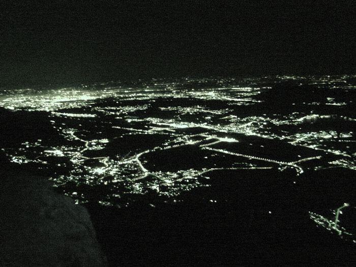 Le città di notte dalla vetta
