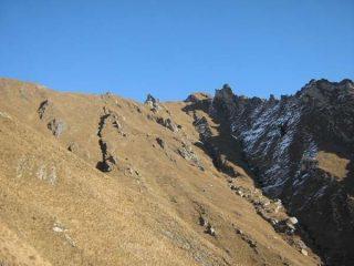 Visione della cresta che porta alla Uja di Ingria