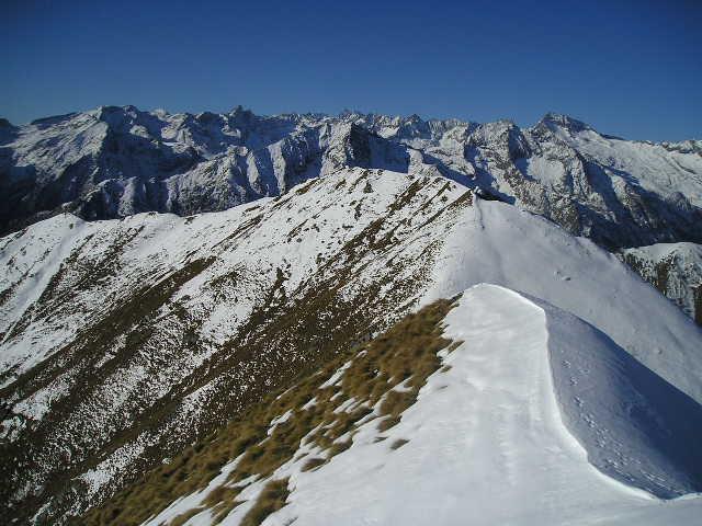 panorama sulla cresta