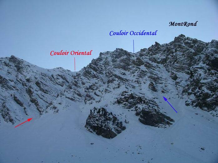 Belle Plinier (Crête de) - Mont Rond Couloiroccidentale ed orientale 2006-12-29