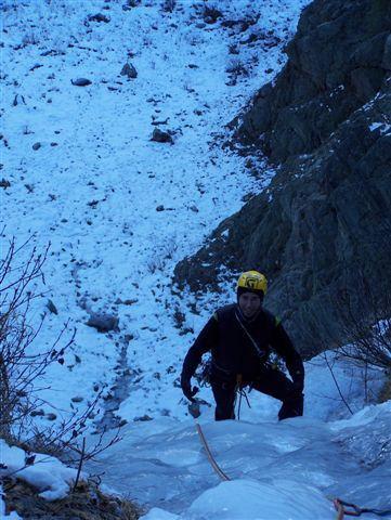 All'uscita del primo salto della cascata di destra di Ca d'Farett