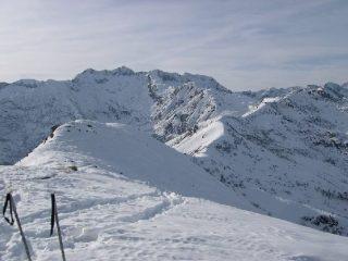 Dall'0metto: vista sul Bo Biellese e cresta verso il Testone tre alpi.
