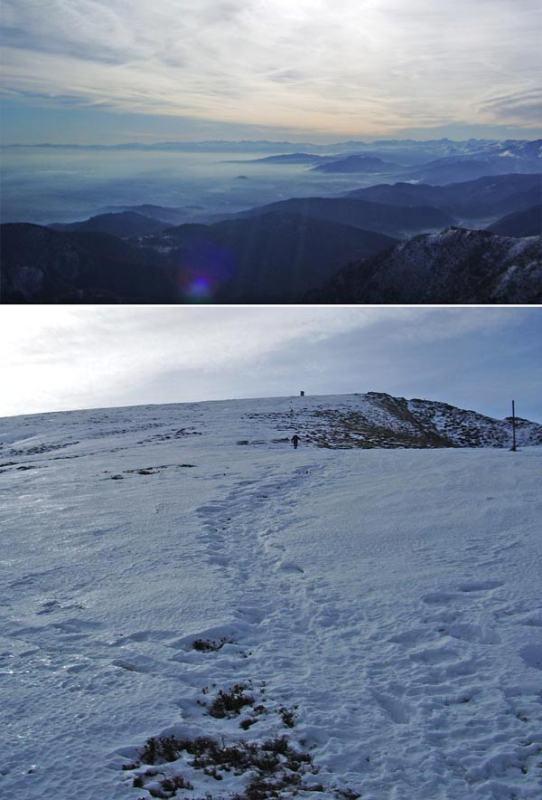 Panorama verso la pianura/Poco sotto la cima