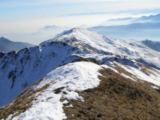 La cresta che collega la Punta Grifone con la Sbaron (in lontananza)