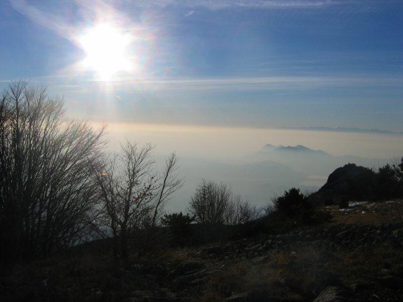 Controluce verso la Rocca Sella