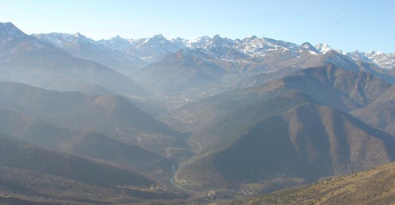 Dal Druina sguardo verso la Valle di Viù.