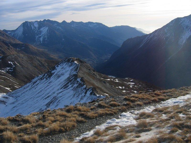 Uno sguardo verso il fondo valle
