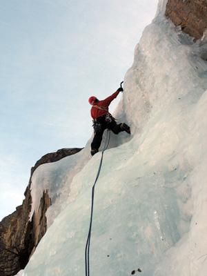 chrtur climbing on ice in summer ;)