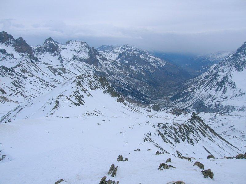 Triste panorama verso Briançon...dalla vetta