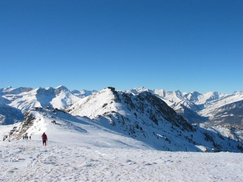 Dal Cugulet la cresta verso Monte Nebin