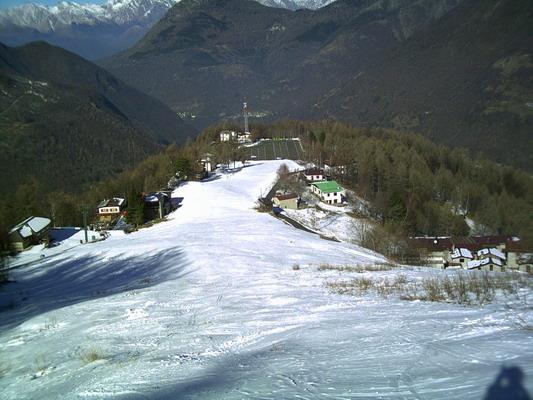 La pista dell'Alpe di Paglio
