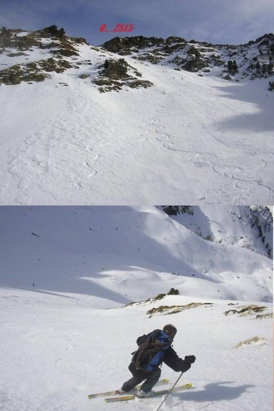 1 Rampa finale 2 Fabri aggredisce il pendio su neve un po dura