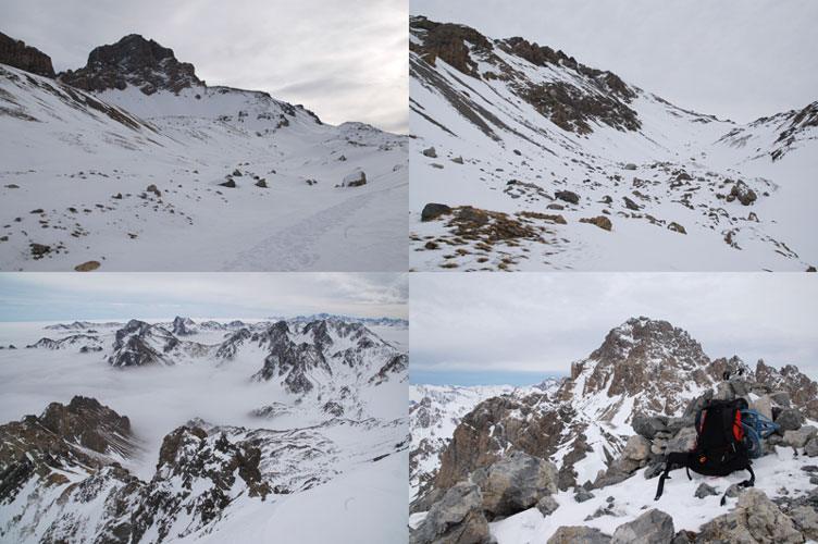 Vallone dell'Oronaye, vallone di Vanclava, vista verso la Val Maira, vetta