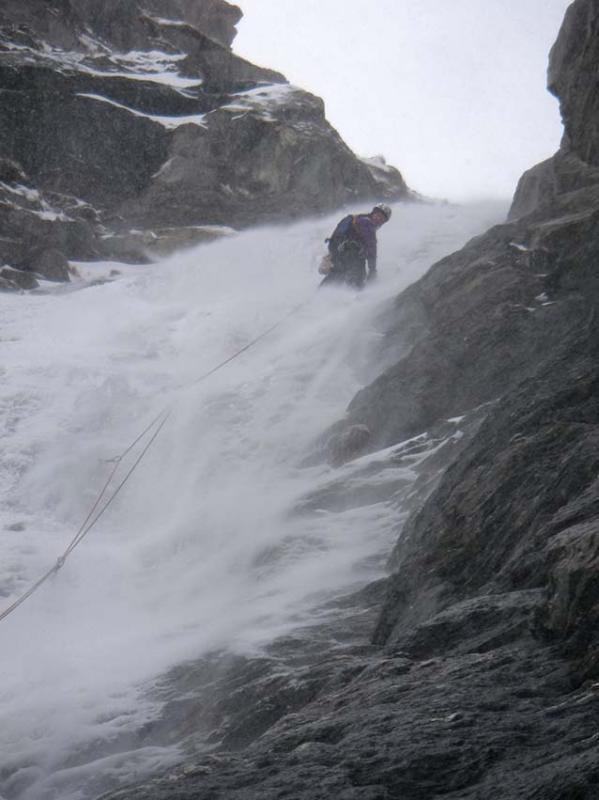 caduta di neve sul IV tiro