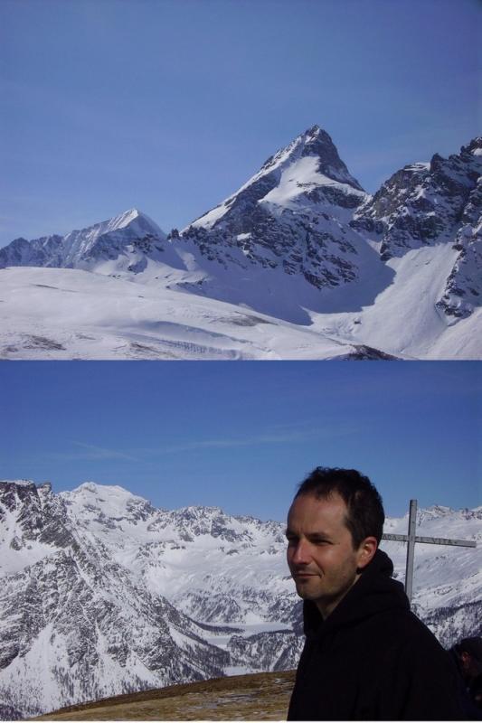 monte leone/p.ta rebbio - Giorgio con Pta Arbola sullo sfondo