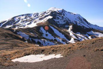 il Monte Cusna (versante NO) con la cresta di salita (4-3-2007)