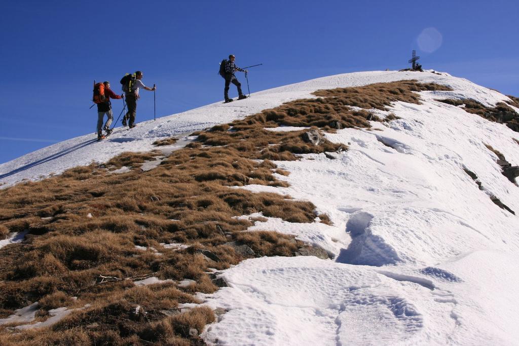 ultimi metri di cresta prima di raggiungere la vetta (4-3-2007)