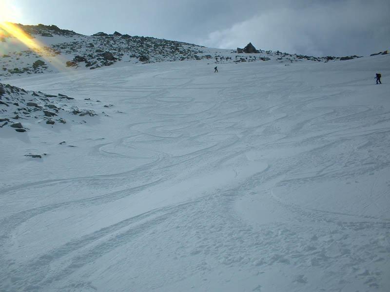 pendio finale ottima neve !!