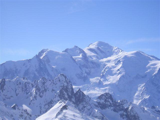 il gruppo del Bianco visto dalla cima.