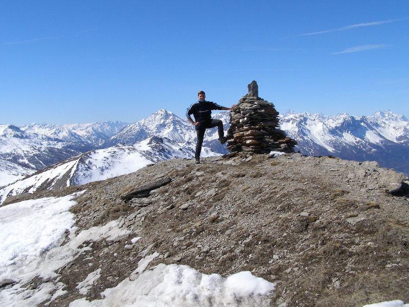 Dalla cima del Blegier con dietro Genevris e Chaberton sullo sfondo