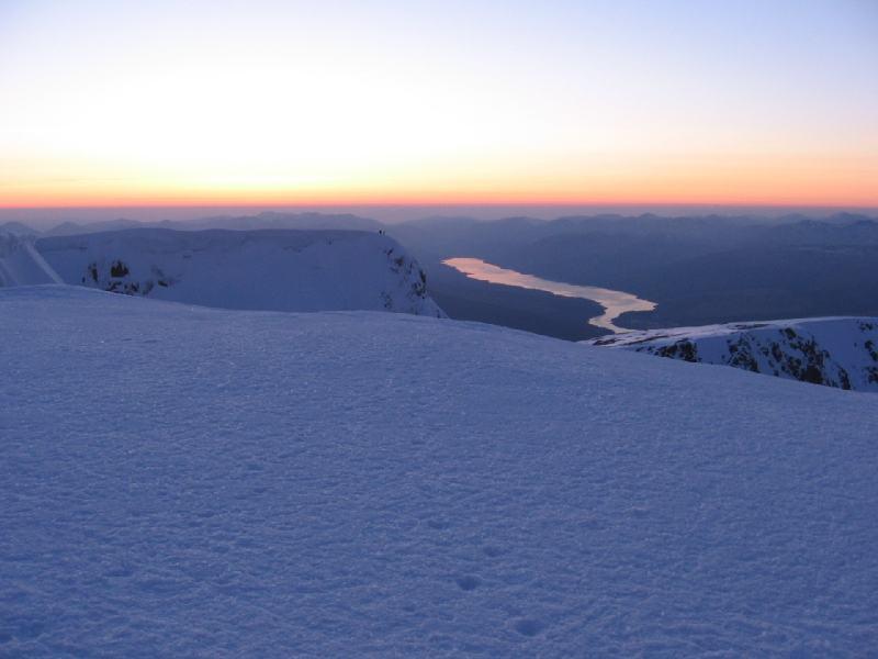 Dalla cima del Ben Nevis al tramonto...