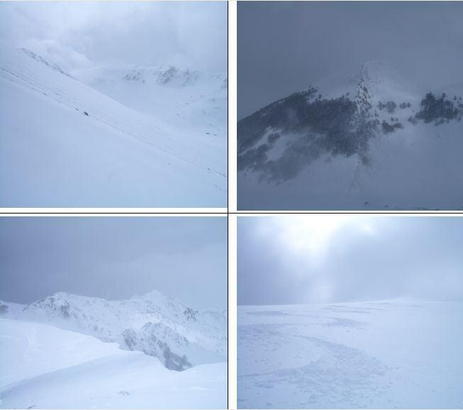 1)M.del Campitello in fondo 2)M.Godi 3)Serra del Campitello 4)Discesa dalla vetta