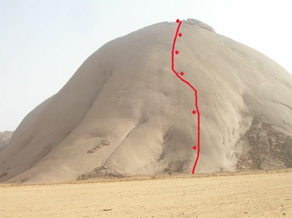 il tracciato  della via nomade