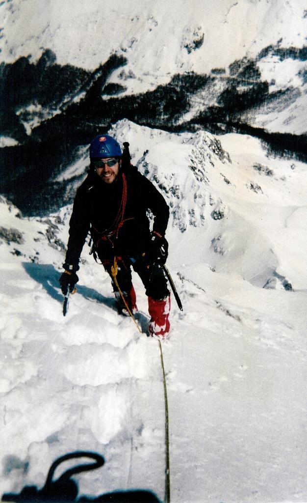 All'inizio della cresta finale, dopo il 2° salto