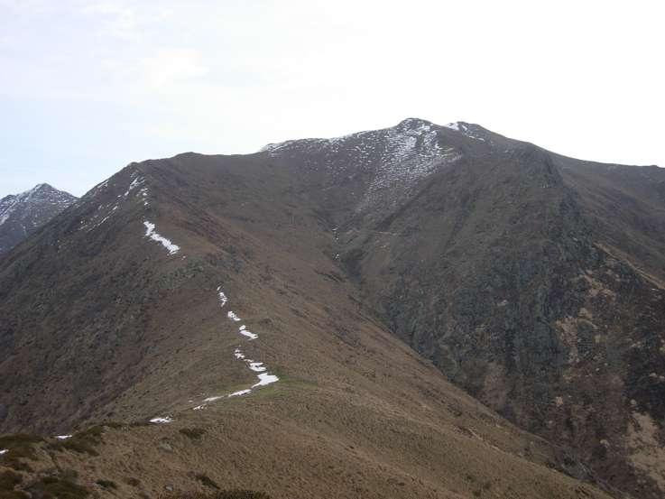 Il percorso visto dal Monte Ventolaro