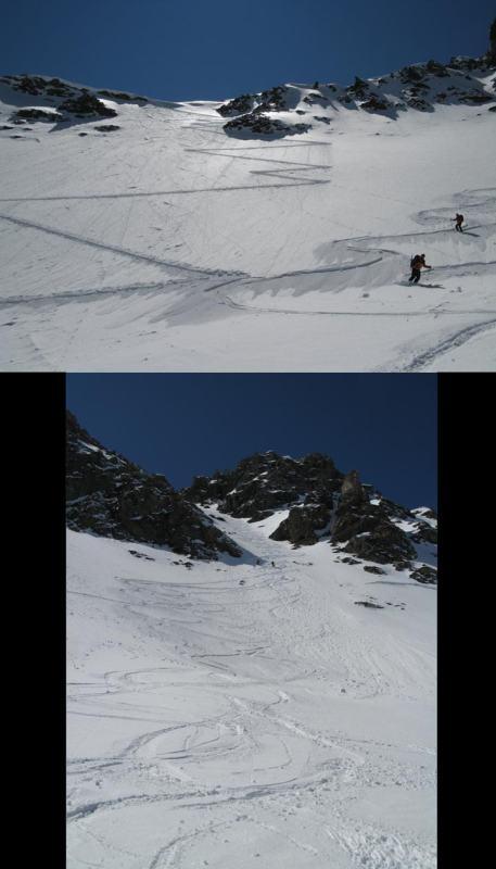 Il pendio di salita con neve