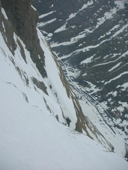 Pignes (Pointe des ), anticima NE parete NE, Il lungo cammino 2007-04-14