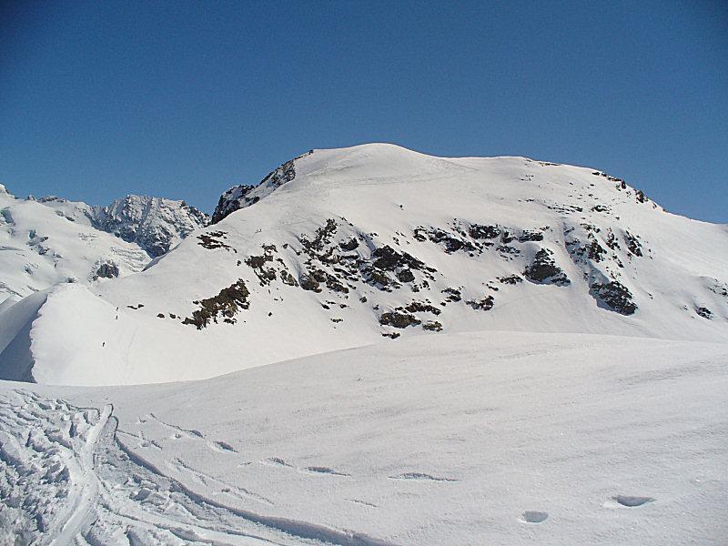 Il Mont Brulè visto scendendo dalla Kurz