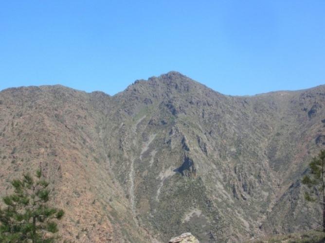 La Punta Martin dal colletto del sentiero Frassati