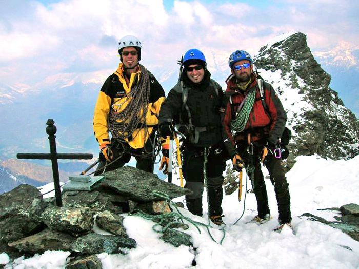 Sulla vetta Paolo, io e Marco