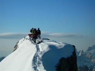 in vetta alla Meje Orientale  3891 m
