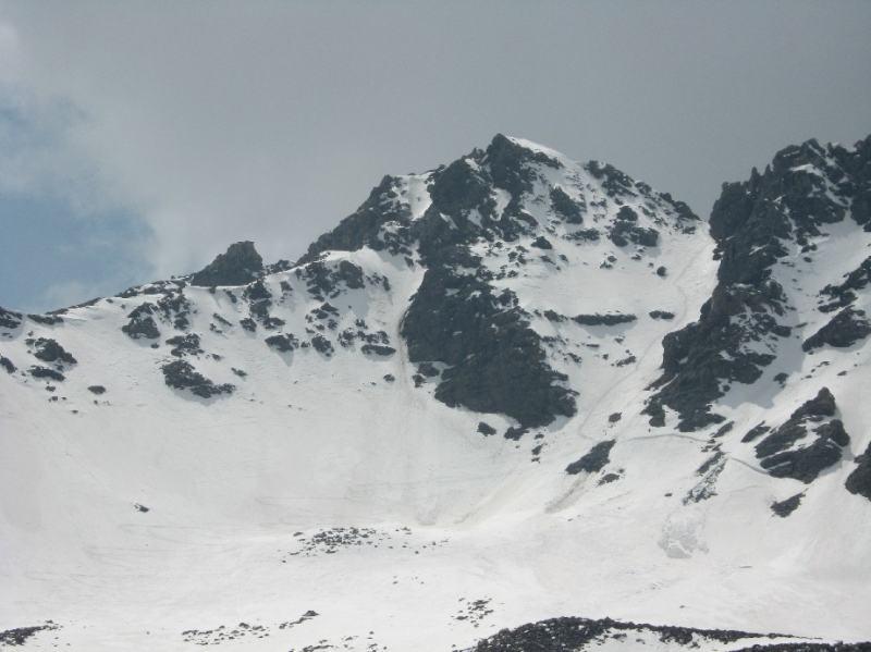 Il Gran Roc ed il canale di accesso alla cima