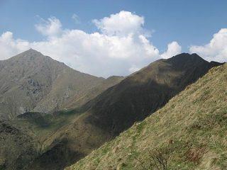 Punta del Vallone e Cima Rosta dai pressi dell'Alpe Belvedere