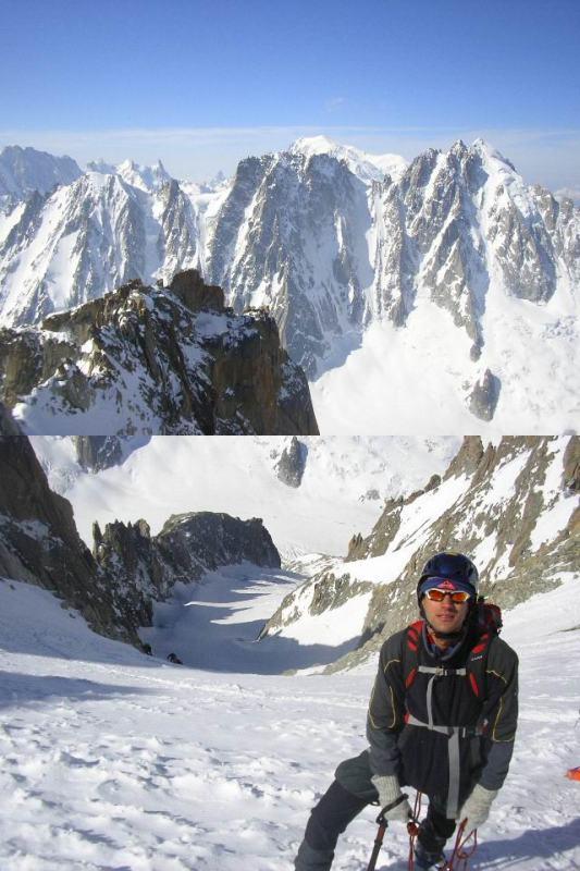 1dalla cima verso Aig.Verte-Droites,sullo sfondo il Bianco2al colletto,sotto il Gl. du Milieu