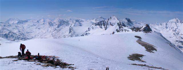 Dalla vetta del Truc Blanc in direzione della Val di Rhémes