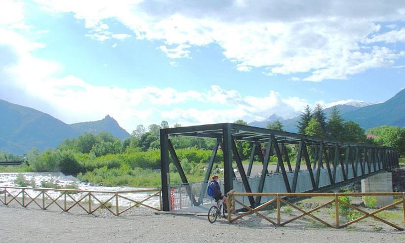 Il nuovo ponte sulla Dora