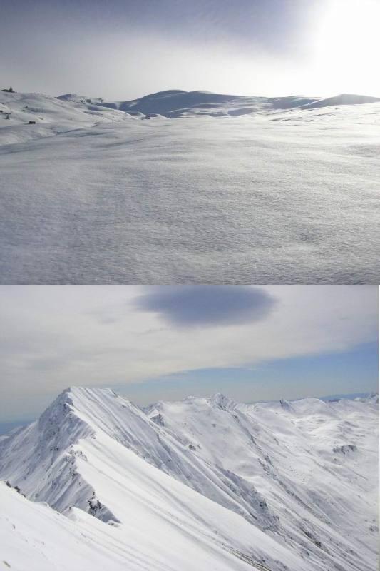 1 i bellissimi pendii superiori 2 dalla cima verso il Barifreddo-Vergia