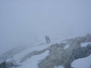 Ambiente severo sulla cresta ovest della Dent d'Heréns