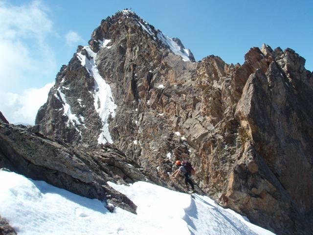Ivo sulla cresta verso la cima Sud dell'Argentera!