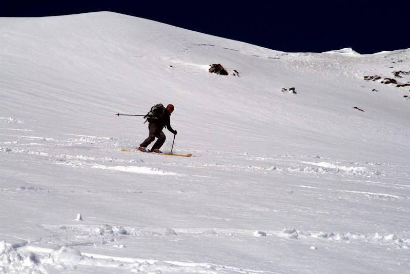 Paolo Bieffe pennella alla grande il ghiacciaio dell´Ormelune.