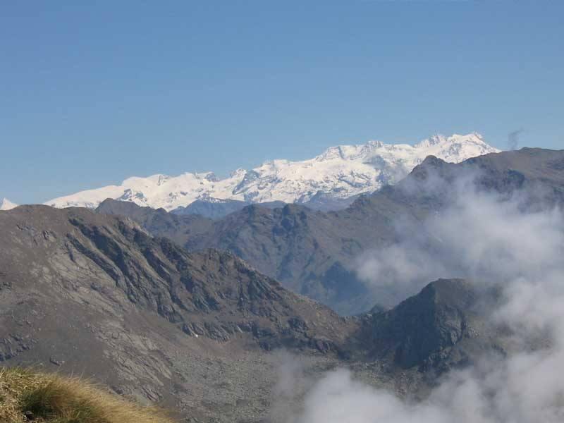 Il Monte Rosa sullo sfondo