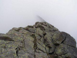 Un passaggio molto esposto ma facile della Cresta, dietro forse la Quinzeina?