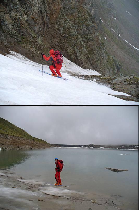 Enrico in azione sul ripido (1) ..e su acqua!! (2)