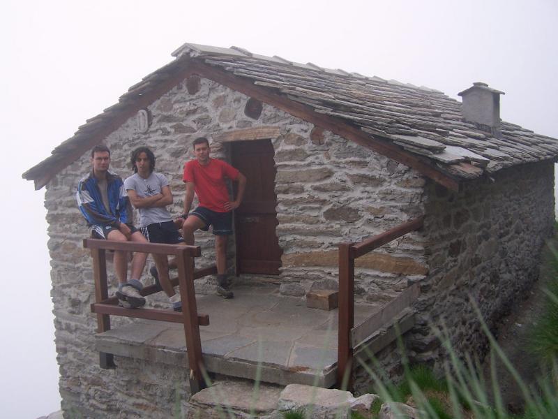 Al rifugio Fornetto coi soci Marco e Danilo